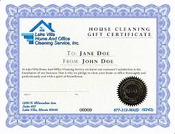 maid service house cleaning gift certificates lake villa home and office cleaning service inc