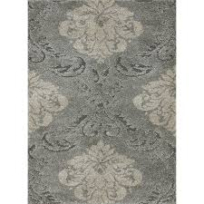 5 x 8 medium smoke gray and beige area rug encore