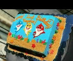 baby shark sheet cake ideas wiki cakes