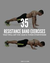 Stretch Band Loops Exercise Chart Printable Resistance Band Exercise Chart Pdf