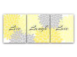 decor wall art live laugh love yellow