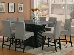 contemporary square dining room table for 8
