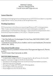 Sap Consultant Resume Sample Airexpresscarrier Com