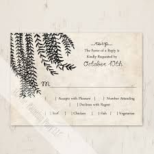 How To Reply To Wedding Rsvp Card Willow Tree Wedding Rsvp Card 10 Pk