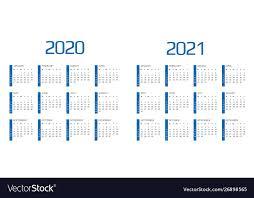 12 Months 2020 Calendar Calendar 2020 And 2021 Template 12 Months