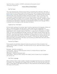 Best Photos Of Sample Police Report Police Report Template