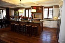 Perfect Kitchens With Dark Cabinets And Floors Quaint Kitchen Space Has Rich Natural Wooden Innovation Ideas