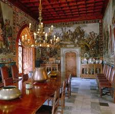 Decorative paintings on the walls, scenic murals, trompe-l'oeil  architectural features, or stenciled heraldic designs can add Medieval  Gothic drama to a ...