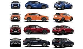 Lexus Suv Size Chart Lexus Suv Sizes Explained Lexus