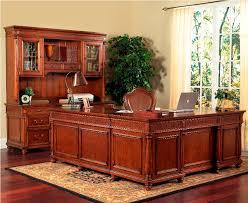 elegant l shaped desk with hutch