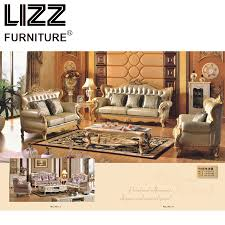 luxury furniture chesterfield genuine leather sofas for living room royal golden sofa loveseat chair sofa set living room