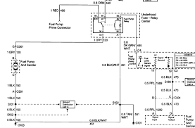 Wireing diagram of the fuel pump curcuit on a 1999 chevy express van