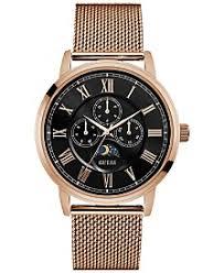 guess watches macy s guess men s rose gold tone mesh bracelet watch 44mm u0871g5