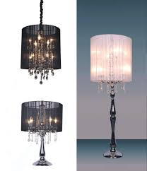 top 72 exceptional black chandelier style table lamp image of