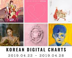 Music Chart Korean Digital Charts 17th Week 2019 2019 04