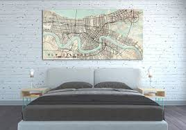 new orleans la canvas print louisiana new orleans huge vintage map city poster horizontal large wall on map of new orleans wall art with vintage maps horizontal nataly borich art