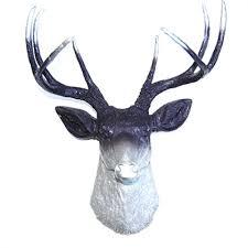 purple silver ombre deer head decor