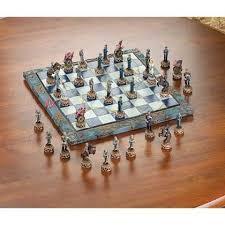 Civil War Themed Chess Set Kids Adults Tournament Games Revolutionary  Medieval Modern Tabletop Standard Decor *