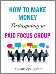 focus group flyers how to earn money participating online paid focus groups