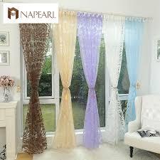 Floral Design Blauen Vorhang Tüll Gewebe Sheer Vorhänge Für
