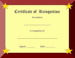 Recognition Certificates Templates Lcysne Com