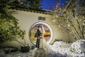 there was lots of good wine and food by wilf s restaurant was amazing enjoy these unique snow wedding pictures in portland asian weddingchinese garden