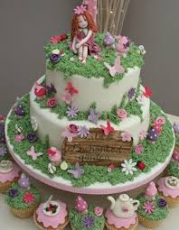 Small Picture Fairy and garden cake design Chaitras 1st birthday party