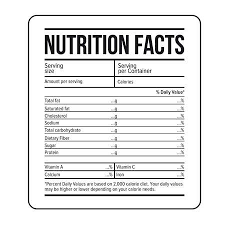 Nutrition Labels Template Facts Template Magdalene Project Org