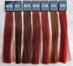 Wella Koleston Vibrant Reds Colorchart 3 In 2019 Red Hair