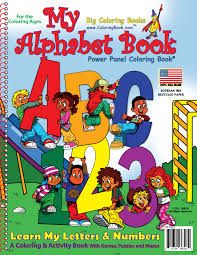 abc 123 my alphabet book power panel coloring book