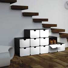 Shoe Rack Designs shoe rack holder cabinet under floating stairs for modern house 8480 by guidejewelry.us