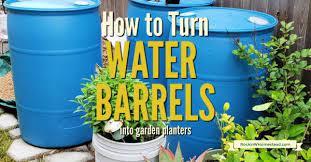 turn used plastic water barrels into