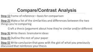 compare contrast essay structure ppt video online 4 compare contrast analysis