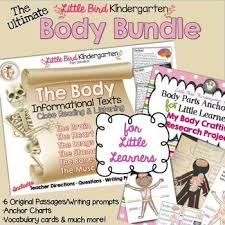 The Body Bundle For Little Learners Anchor Charts Informational Text Passages