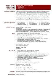 Restaurant Manager Resume Objective Assistant General Manager Resume Assistant Restaurant Manager Resume