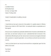 Congratulation Letter For New Job Congratulations Email For New Job Under Fontanacountryinn Com