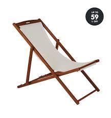 garden furniture cream deck chair