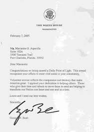 pcsegazette  letter of bush to mark