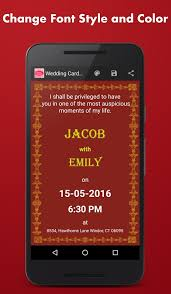 wedding card maker android apps on google play Online Indian Wedding Card Maker Free Printable wedding card maker screenshot Free Printable Cards Wedding Congratulations