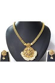 golden stone white ghungaru pendant necklace set ns0790318 a 1200x1799 jpg