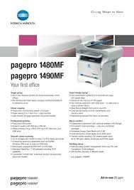 Download the latest konica minolta bizhub device drivers (official and certified). Pagepro 1480mf Pagepro 1490mf Konica Minolta
