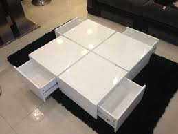 modern white side table tags dazzling coffee table sets regarding famous round high gloss coffee