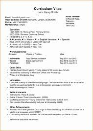 10 An Example Of Chronological Cv Besttemplates