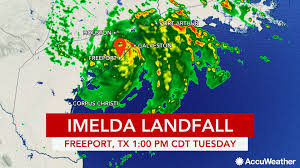 Tide Chart Freeport Tx Imelda Unloads Feet Of Rain Flooding As It Crawls Inland
