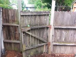 picture of pull wooden fence posts set in concrete with no digging
