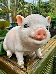 etach pink small baby piglet ornament
