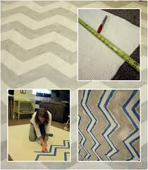 how to paint a rug (chevron)