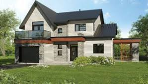 Modern House Plans Small Contemporary Style Home Blueprints