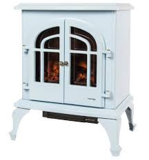 warmlite log effect stove electric fire in baby blue