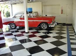 Superb Checker Board Design In Black And White Armtrong VCT Tiles In Garage. Idea